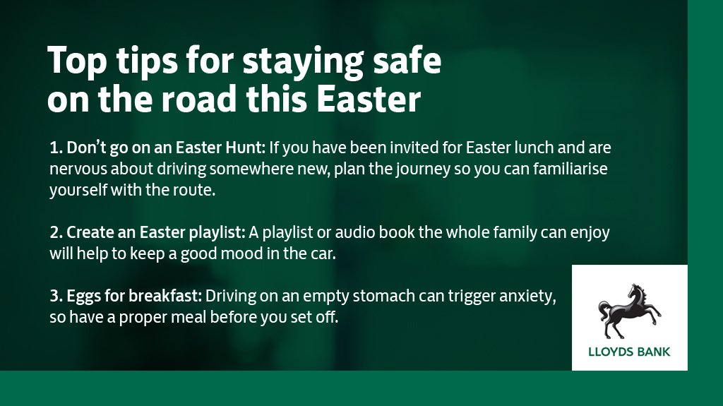 With 20 million cars expected on the road this weekend, follow our top tips  to keep calm ahead of the big Easter getaway #lloydsbank #carinsurance ...