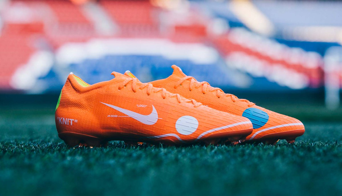 c467a07e0fff Off-White hype. @nikefootball reveal the limited edition Mercurial 360 x Virgil  Abloh, set to be worn by @KMbappe. Closer look: ...