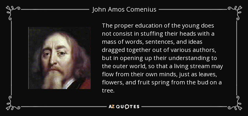 what are the educational ideas of john amos comenius