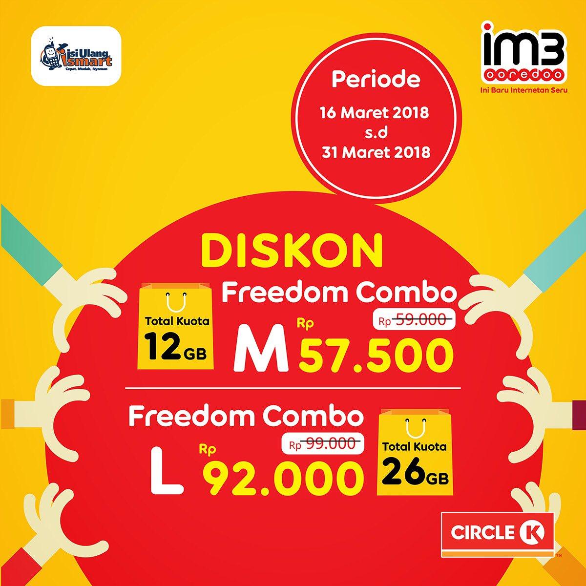 Circle K Indonesia Twitter Super Hemat Freedom Combo M 12gb Indosat
