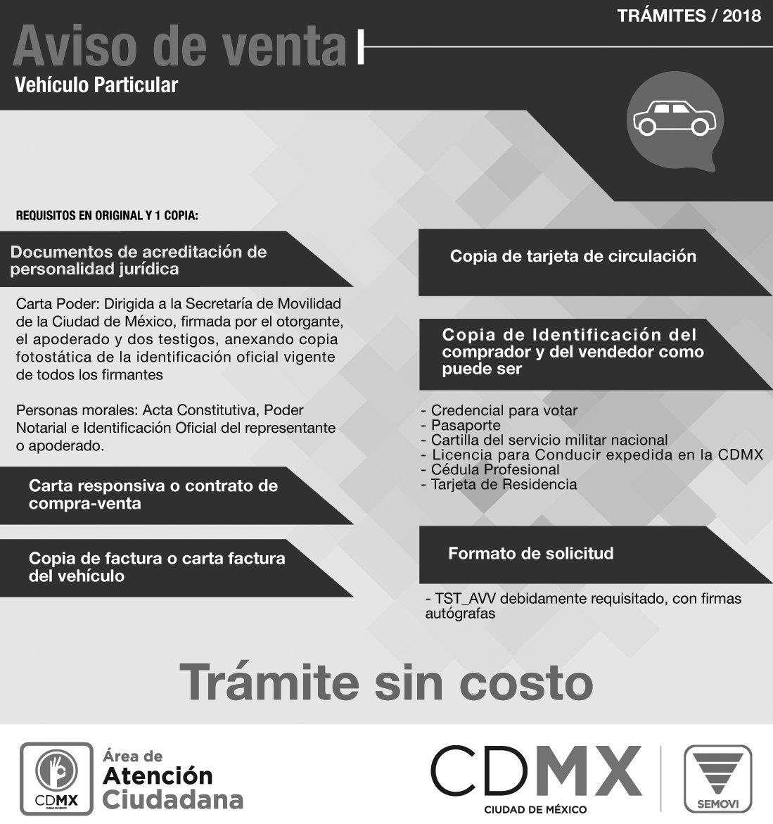 Secretaría De Movilidad Cdmx On Twitter El Aviso De Venta
