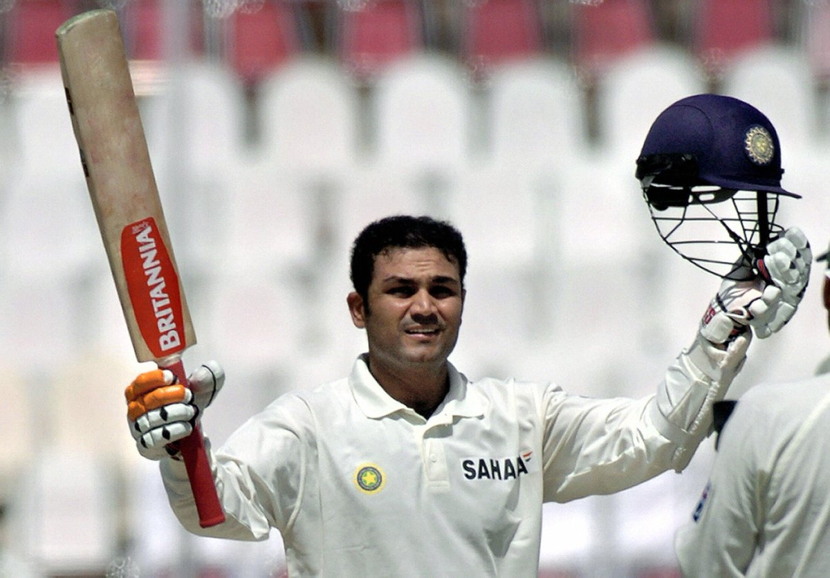 Image result for Virendra Sehwag triple century