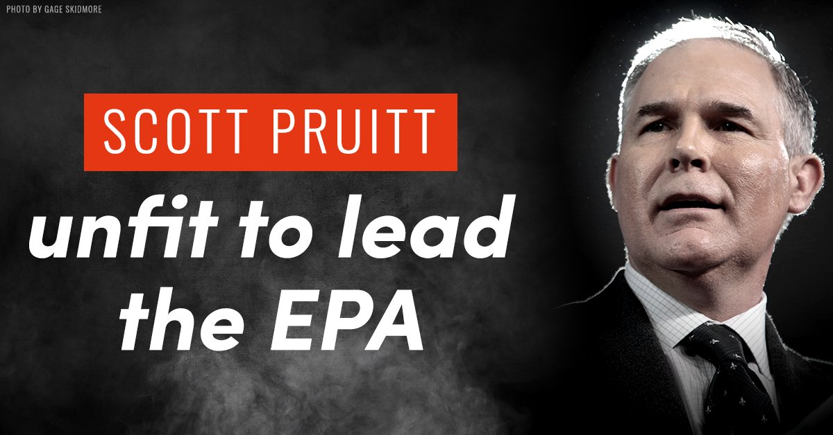 Scott Pruitt is rolling back crucial environmental protections at the EPA. Let's #BootPruitt https://t.co/K6rf12GbJF https://t.co/UYk08BEns4