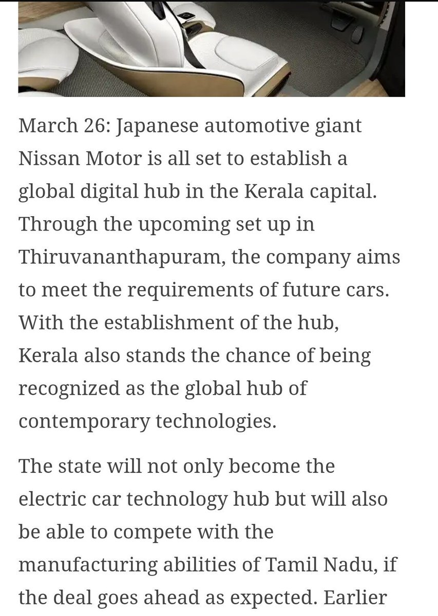 Ramdas On Twitter There Is A Huge Potential For Kerala To Be Working Of Electric Cars Contemporary Technologies Rd This Nissan Global Hub Will Definitely Boosts That Up Mytechnopark Already Has Tataelxsi