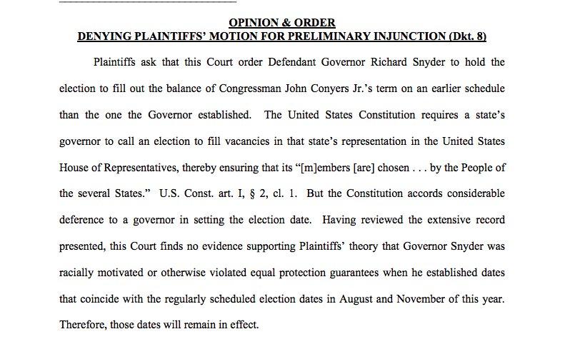 Sam Levine On Twitter New Federal Judge Says Michigan Gov