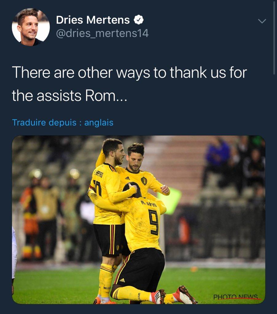 [#Belgique🇧🇪] Dries Mertens 😂😂😂  «Il y a d'autres manières de nous remercier pour les Passes D Rom...»