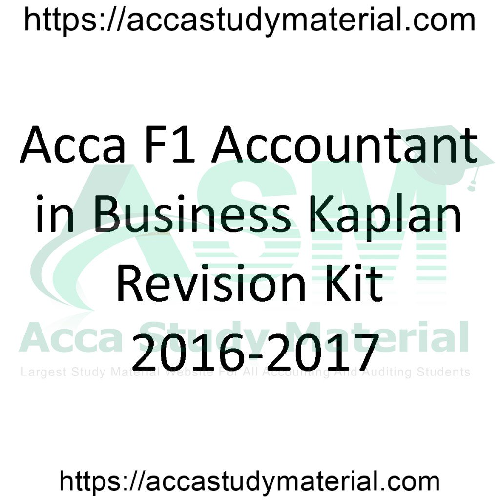 Acca Study Material on Twitter:
