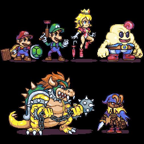 Omegachaino On Twitter Mario Rpg Characters Ver01 Wip Nintendo