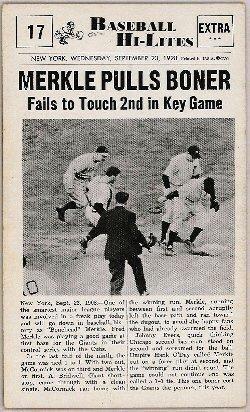"""Baseball In Pics on Twitter: """"Merkle's boner, 1908… """""""