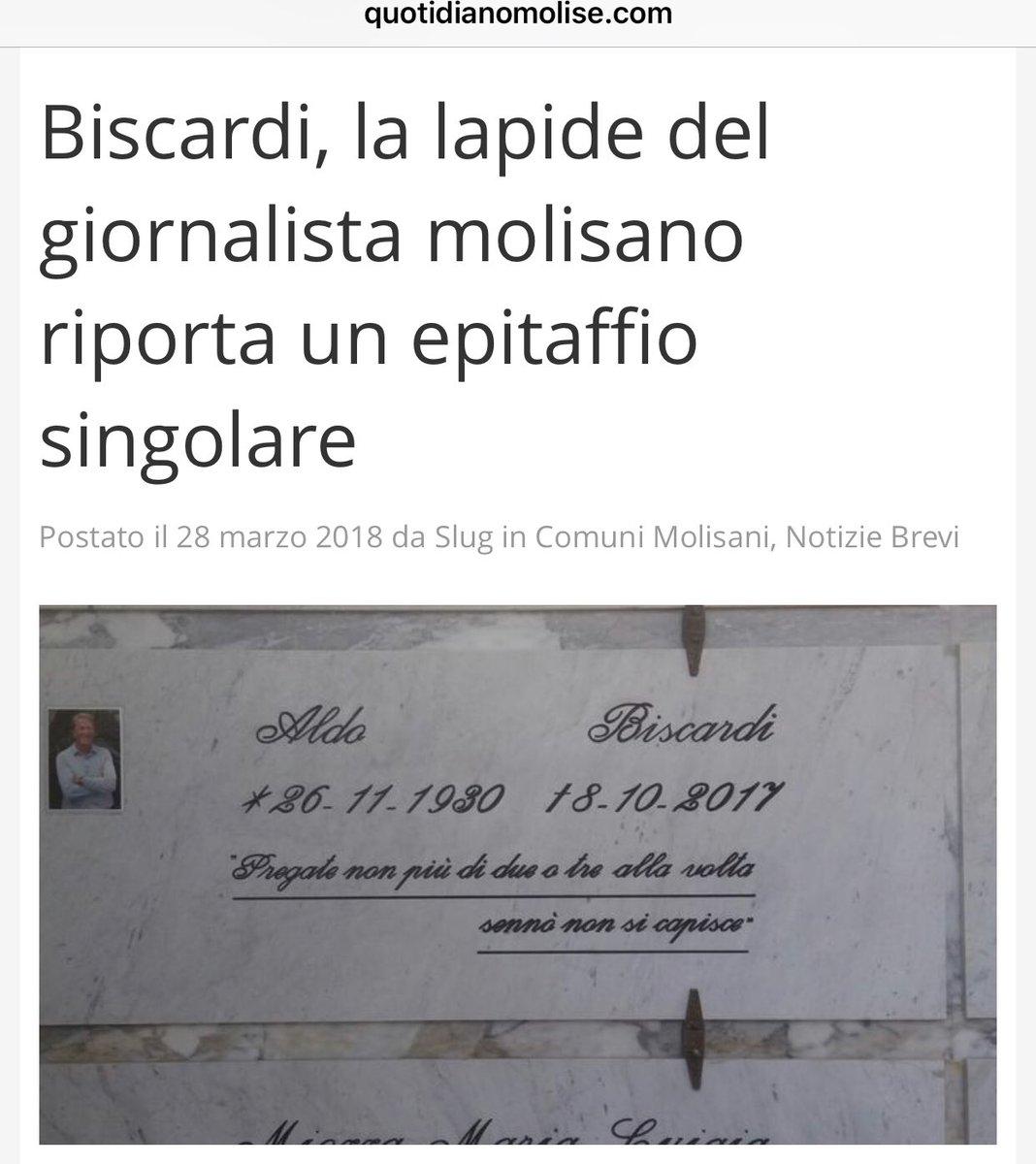 Nonleggerlo På Twitter Epitaffi Che Resteranno Il Quotidiano Del