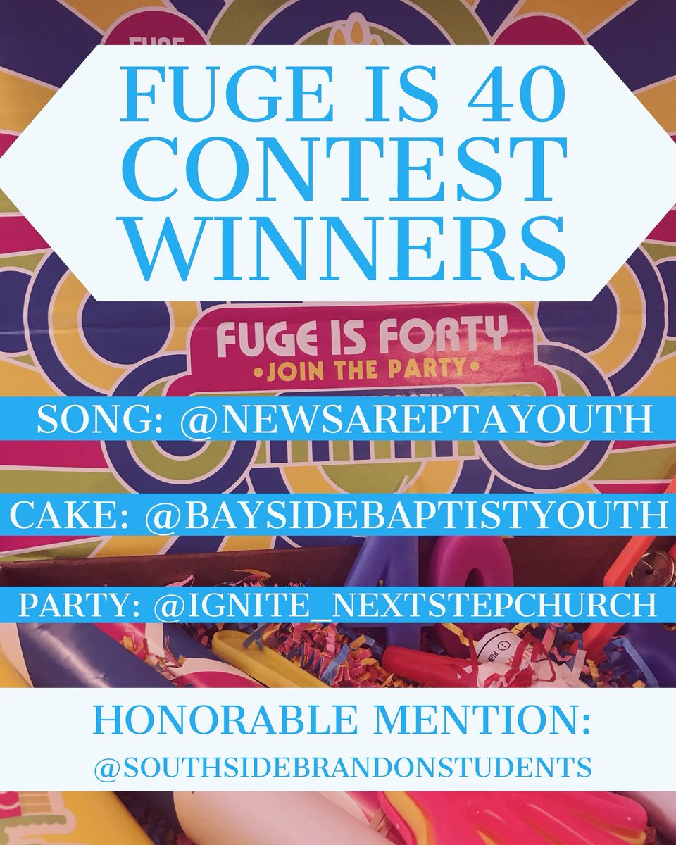 test Twitter Media - Thank you to those who celebrated FUGE's 40th Summer! Thank you to everyone who participated! Congratulations to all the winners! To claim prizes, Group Leaders please email fuge@lifeway.com.  @newsareptayouth @baysidebaptistyouth @ignite_nextstepchurch @southsidebrandonstudents https://t.co/Dg4qc0ypVB