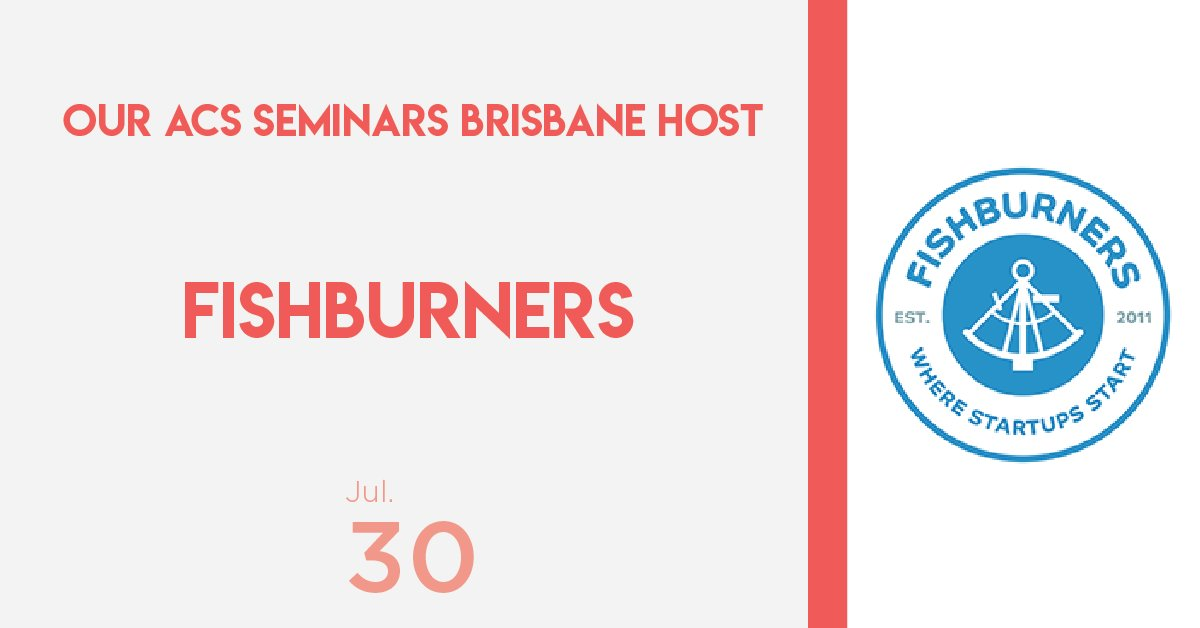 test Twitter Media - Announcing our host for the #ACSSeminars Brisbane: @Fishburners!  It's the second time they have welcomed us into their state-of-the-art co-working space and we can't wait!!  You can find out more and register via Fishburners profile: https://t.co/1yVWUHPhiq https://t.co/R6UYHPJTe5