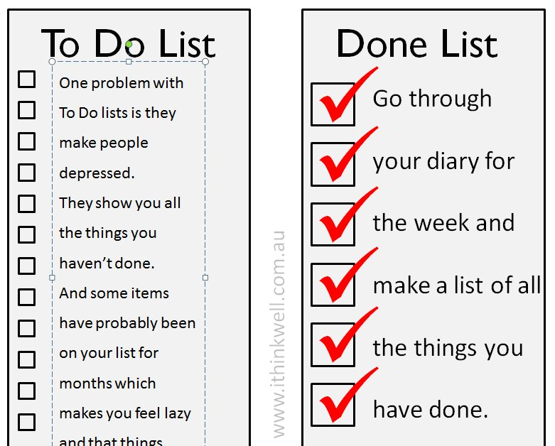 what to make lists of