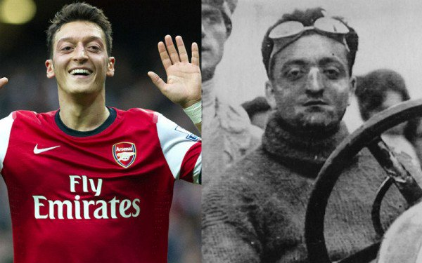 Famous Lookalikes On Twitter Mesut özil And Enzo Ferrari Mesutozil Enzoferrari Lookalike