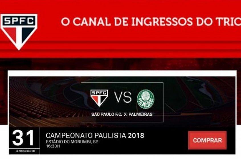 Site parceiro do São Paulo já inicia venda de ingressos à final do Paulista https://t.co/vE5VnWAUT0