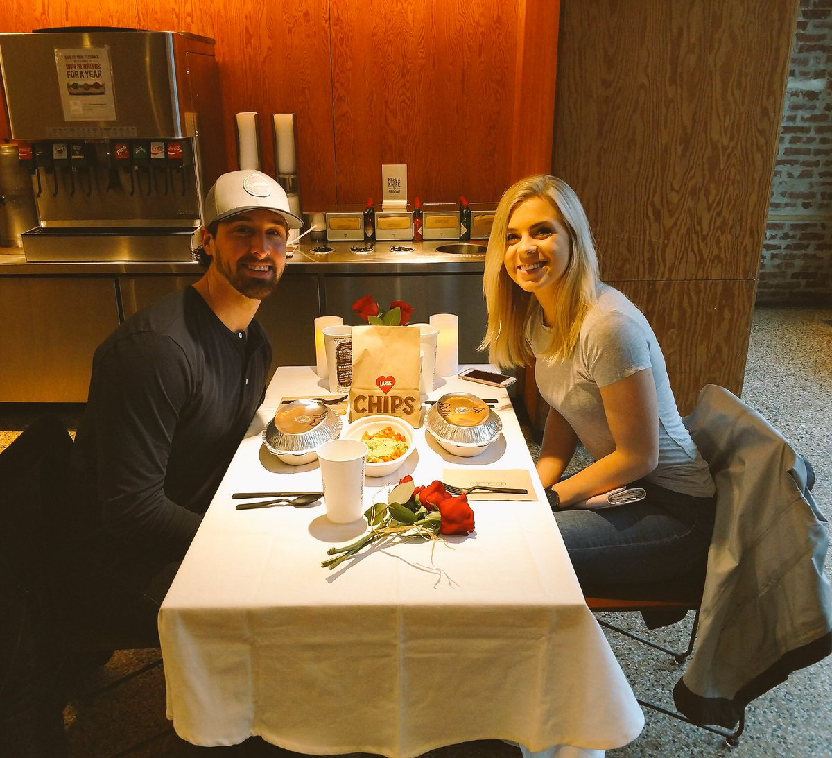 During The Caps-Devils Game, Keith Kinkaid Sat In The Nosebleeds With His Chipotle-date Girlfriend