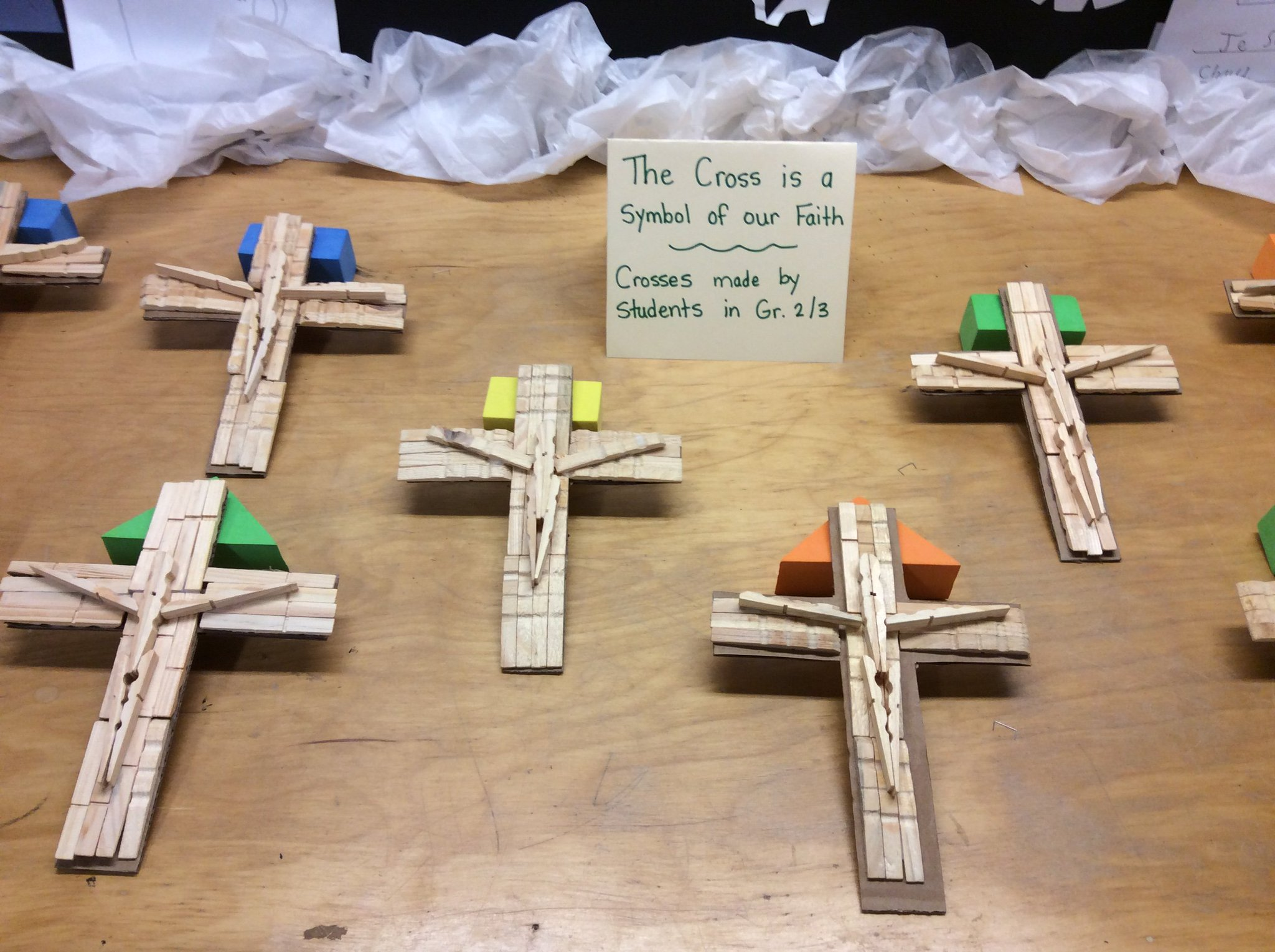 Mrs Mackler On Twitter Students Made Beautiful Crosses Out Of