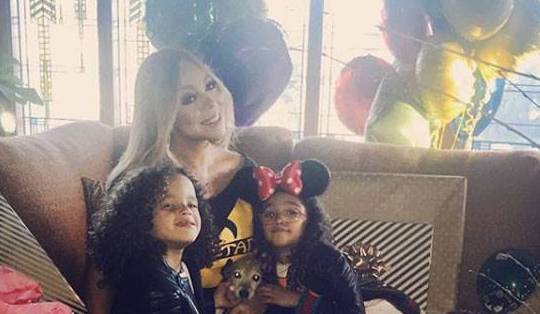 Mariah Carey picked a pretty happy place to celebrate her special day Disneyland!
