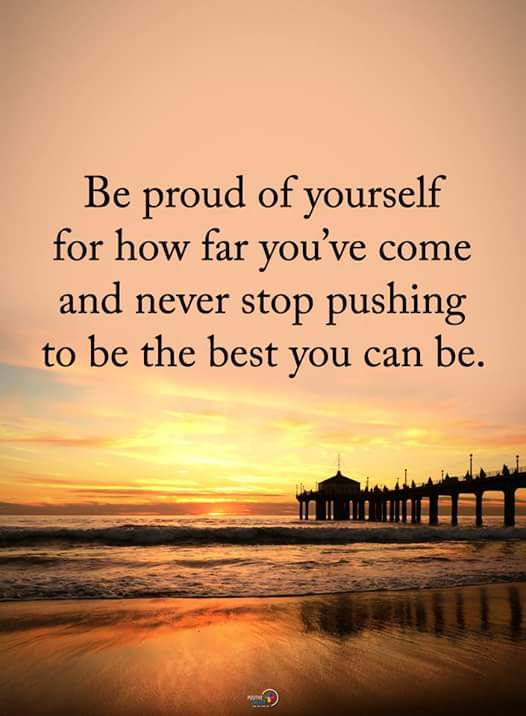 Inspirational Quotes On Twitter Be Proud Of Yourself For How Far