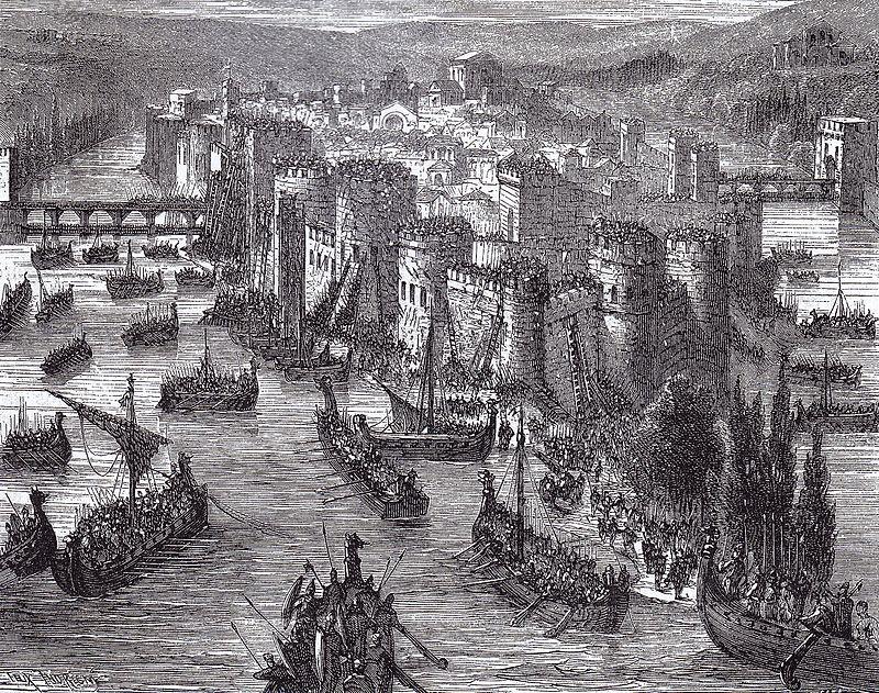 В этот день, в 845 году, викинги совершили налет на Париж.