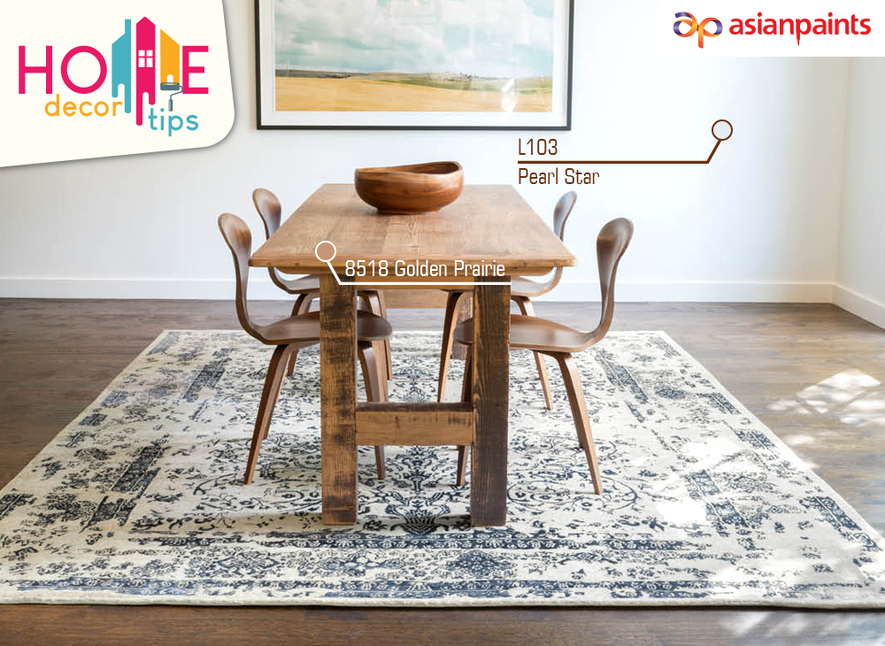 If you're setting furniture – like a dining table – in the middle of the room, your rug should be big enough so that all the furniture, including chairs, fits comfortably on top. Get creative ideas for beautiful homes, visit- https://t.co/dths2O9Tgs #InspiringLIfe #interiordesign https://t.co/rwCya2wsmi