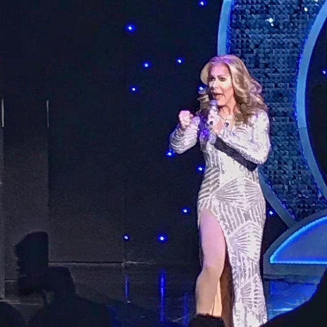 Faux Celine Dion from Divas Las Vegas: a decidedly non-kid friendly show.