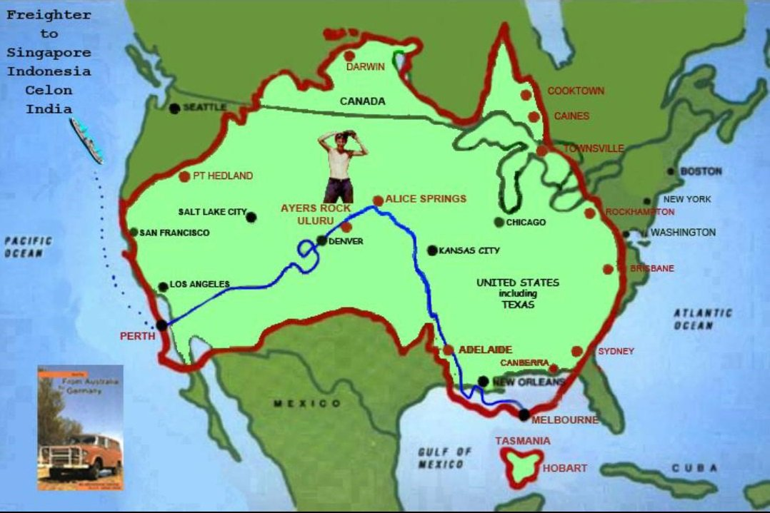 So How Big Is Australia Check Authorguspegel Gus S Tweet