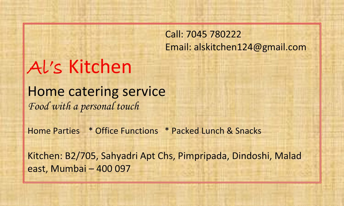 Alan Rathod Al S Kitchen Alanmumbai Twitter