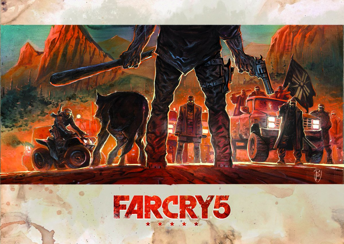 Geek Art Net On Twitter Geek Art X Ubisoft X Far Cry 5 Vs The World Gorgeous Artwork By French Illustrator Ronantoulhoat For Our Farcryfr 5 Project With Ubisoftfr Check The Video Here