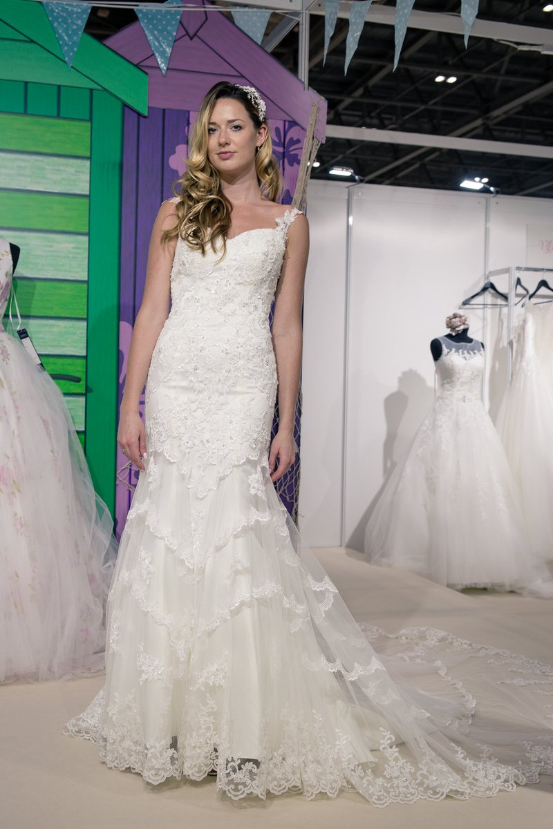 Romantic Tiered lace adorned this lovely gown from the Signature Collection. Delicate beaded straps with a lace trim soften the lines around the neck to give a flattering neckline. #londonbridalweek #victoriakay #lacewedding #weddingdress #bridalwear #weddingdress https://t.co/tn7wr1mQOR