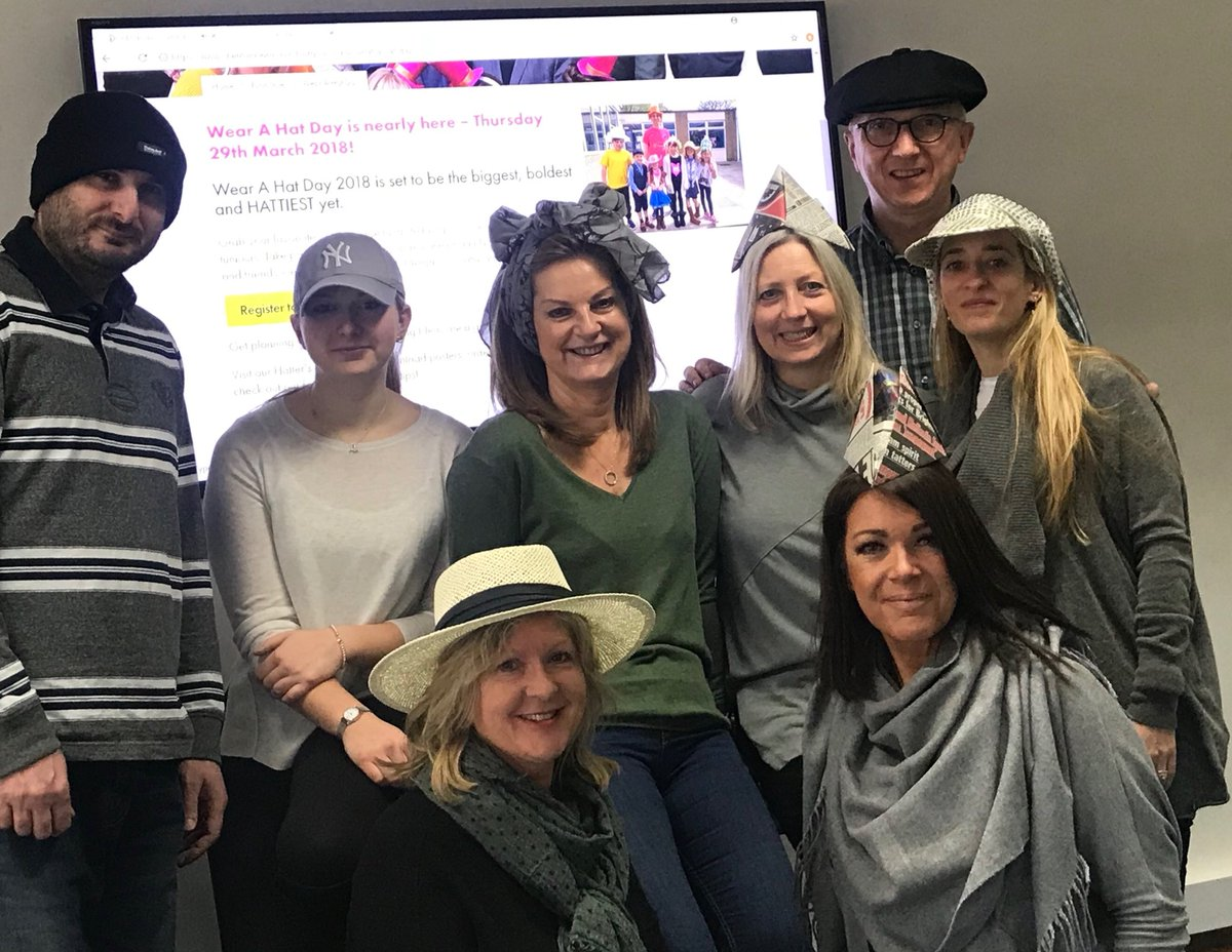 We're fundraising for Brain Tumour Research on #WearAHatDay - donate at https://t.co/RXLiPM5r4D