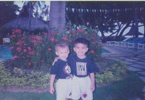 Here are some of the baby pictures of Enrique Gil with Javy  Happy Birthday Quen  cto