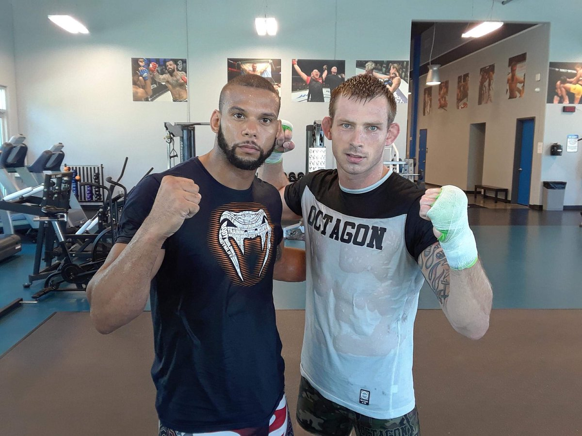Great sparring session with @TMarretaMMA! 👊
