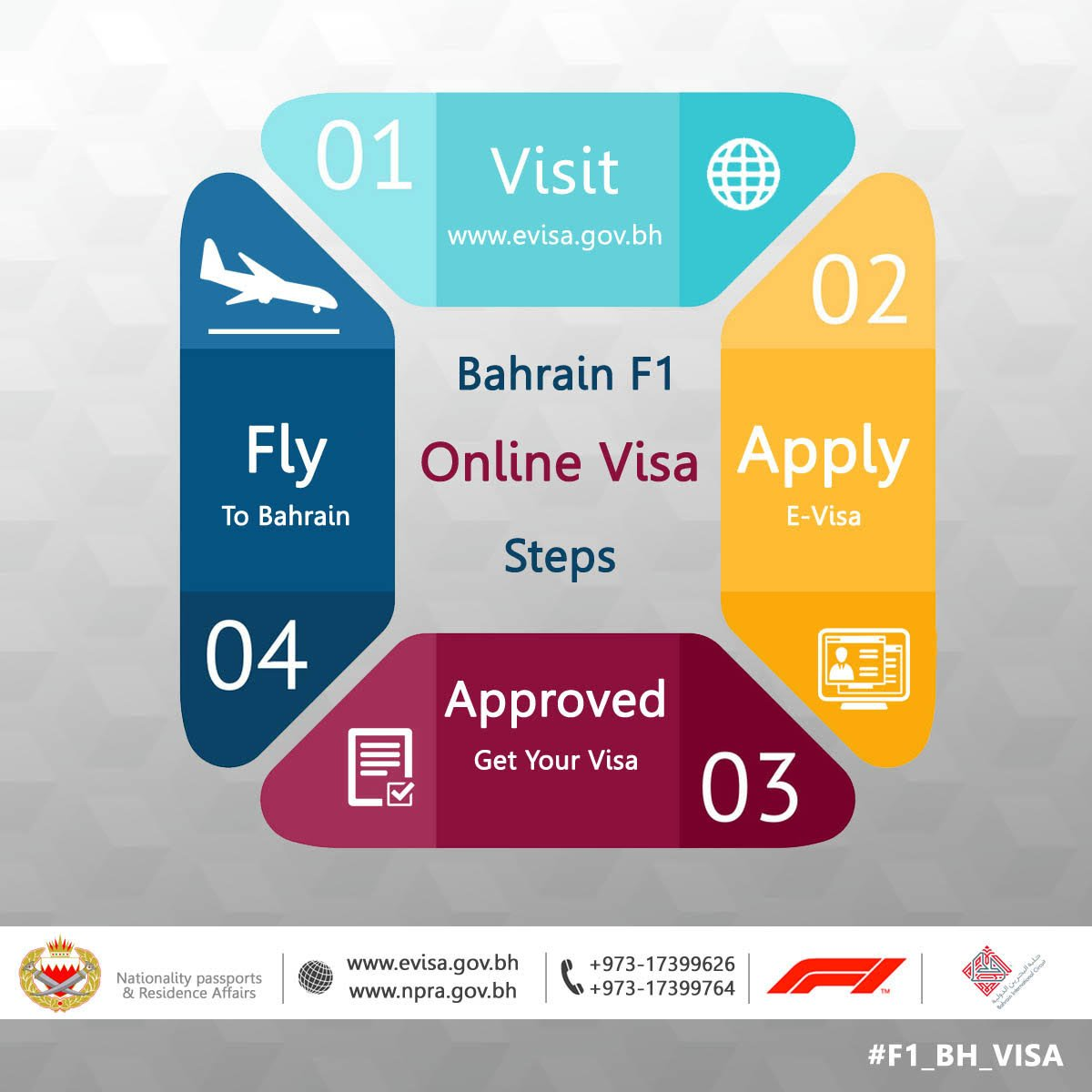 Ministry Of Interior On Twitter Simple Steps Away To Get Your Bahrain F1 Visa Apply Online Now And Receive The Approval In Your Mailbox Welcome To The Kingdom Of Bahrain 973 17399765 Https T Co Tohraytmky