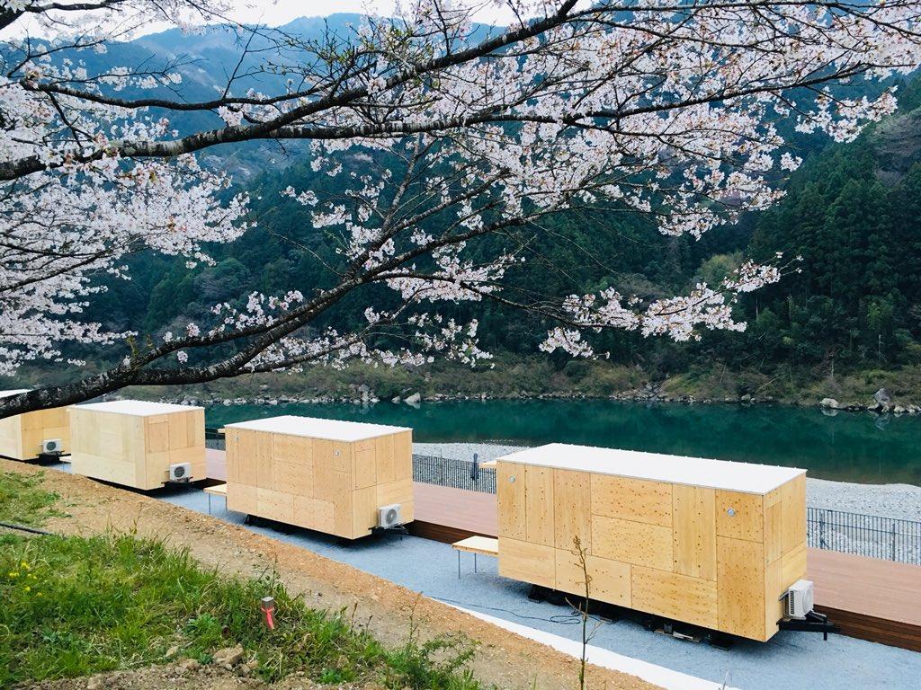 """イトム on Twitter: """"桜と住箱と仁淀川。来月、スノーピークの ..."""