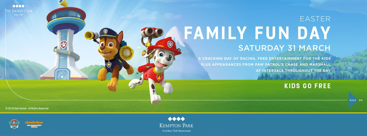 Kempton park on twitter easter racing were all over it come adult admission from 16 kids go free httppomyjeqg easter family fun pawpatrol racingpicitterakkkei5ay1 negle Images