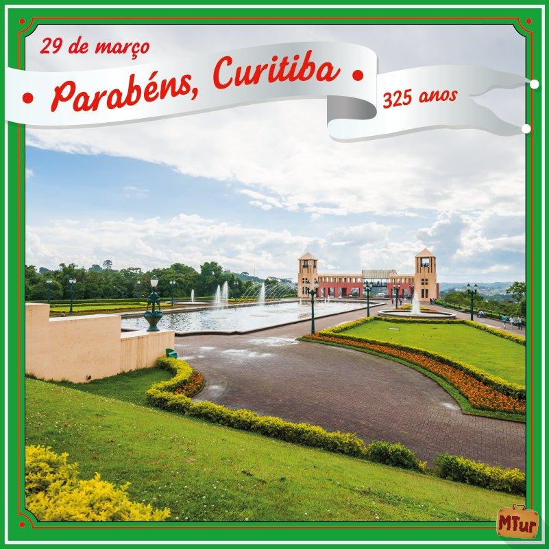 🎈PARABÉNS, CURITIBA!🎂🎈 Dizem que a capital paranaense é um lugar frio. ☃️ Mas aquece o coração de todos os visitantes.🔥♥  #Curitiba325Anos  Comemore com a gente: https://t.co/vhUJPvwC6P