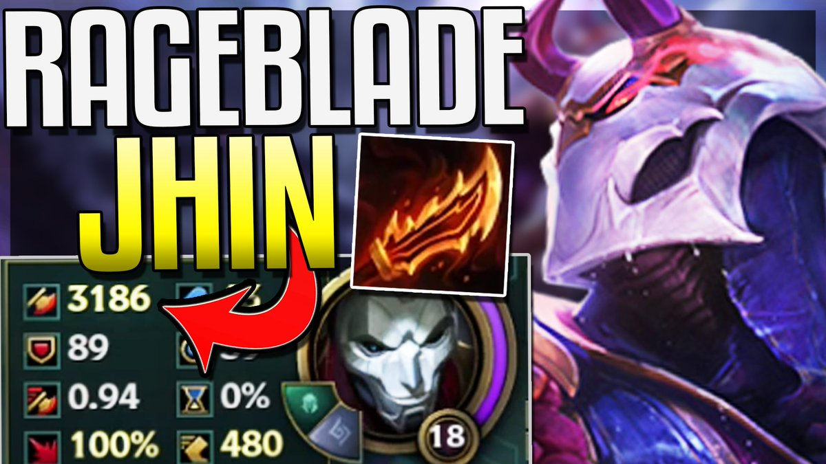 """Redmercy on Twitter: """"New Guinsoo's Rageblade Can Give Jhin 3,000+ AD :O  https://t.co/5FS2A67WAs… """""""