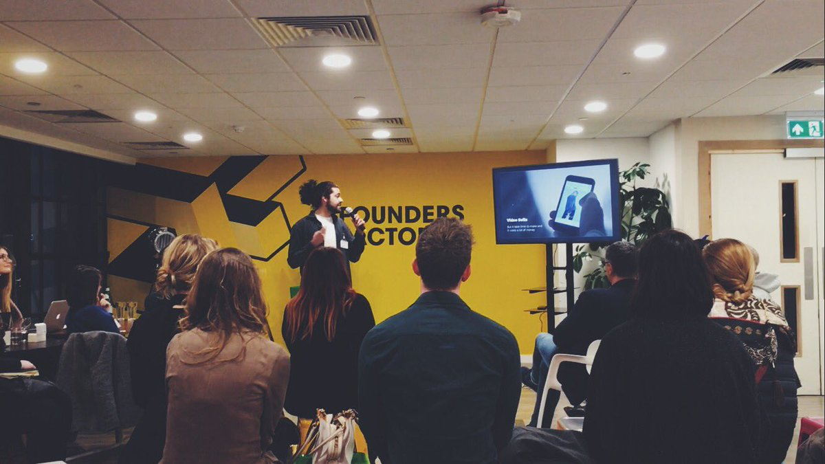 Veed Pitching at Founders Factory