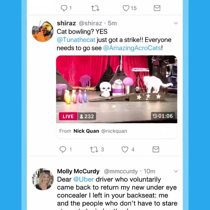 Did you just watch something in a live video on Twitter that you want others to see?  Were introducing Timestamps — a new feature rolling out today that lets you Tweet a specific start time for a live video, so everyone can jump right into the action!