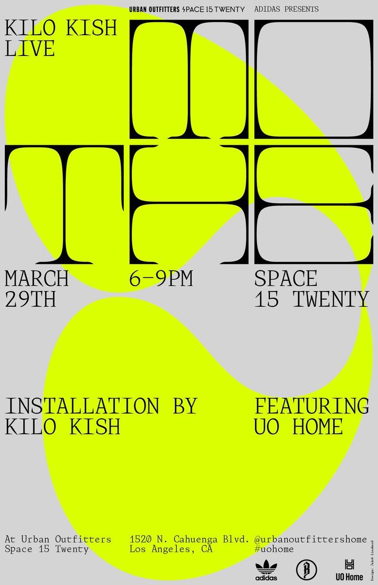 Kilo Kish @ Space 15 Twenty tonight.