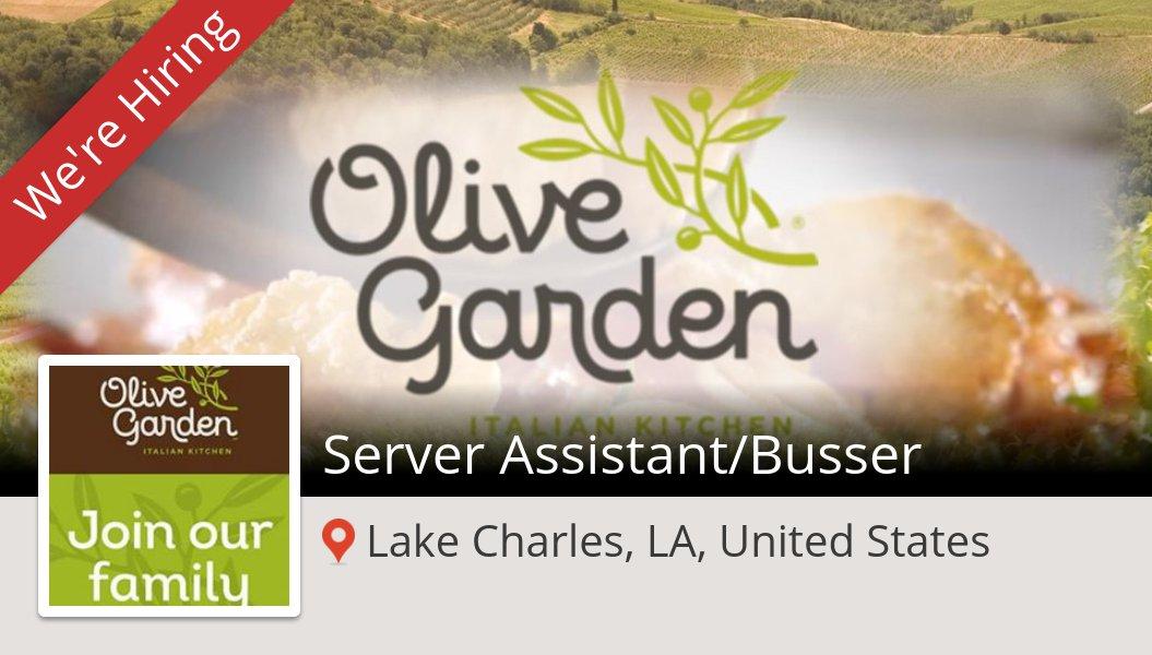 server assistantbusser job wanted in lakecharleslaunitedstates olivegarden httpsworkforusolivegardenpd3x89s pictwittercomyyf3ikk3mq - Olive Garden Lake Charles