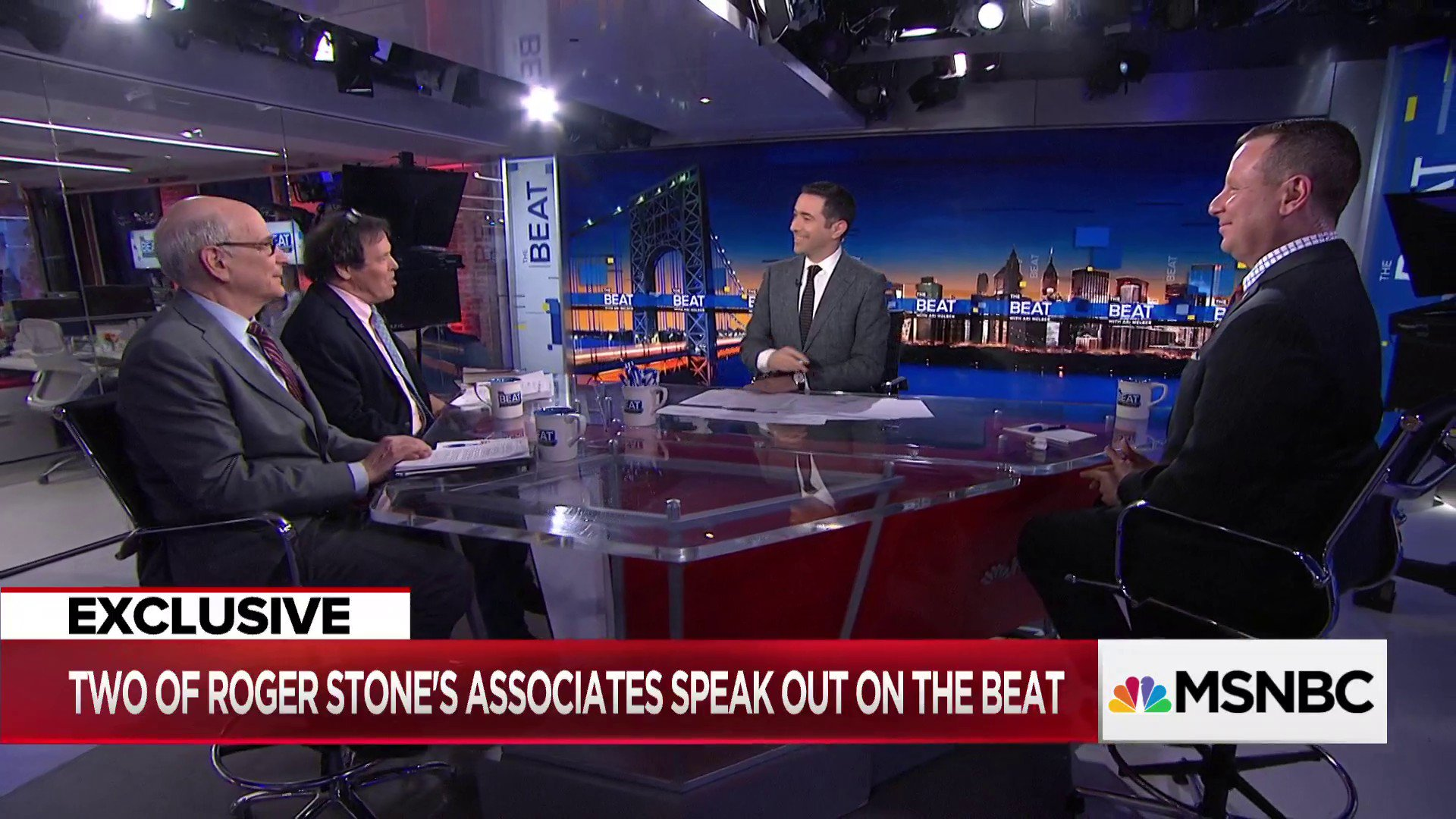 TUNE IN to @MSNBC's #TheBeat.   WATCH @AriMelber interview Sam Nunberg, Randy Credico, and Nick Ackerman. https://t.co/0JPME351QU