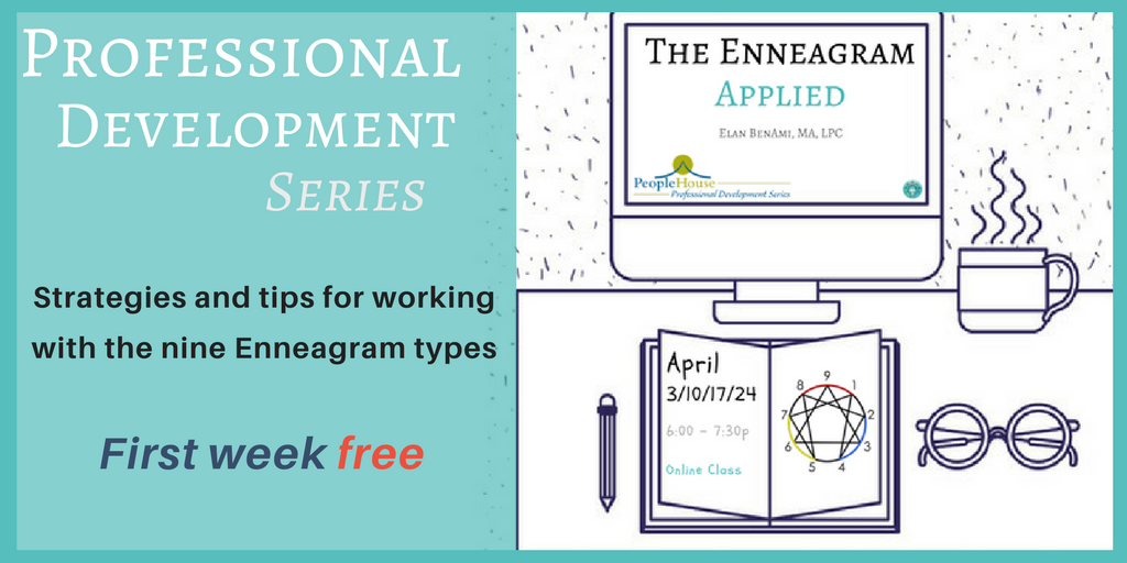 The Enneagram Applied - Professional Development Series @PeopleHouseCO  How to incorporate the #Enneagram as a helping professional...  #Therapists #Coaches #Counselors #SocialWorkers #Educators #Trainers   #FREECLASS Tuesday @ 5p PT More Info/Register: http://elanbenami.com/the-enneagram-applied-2/…
