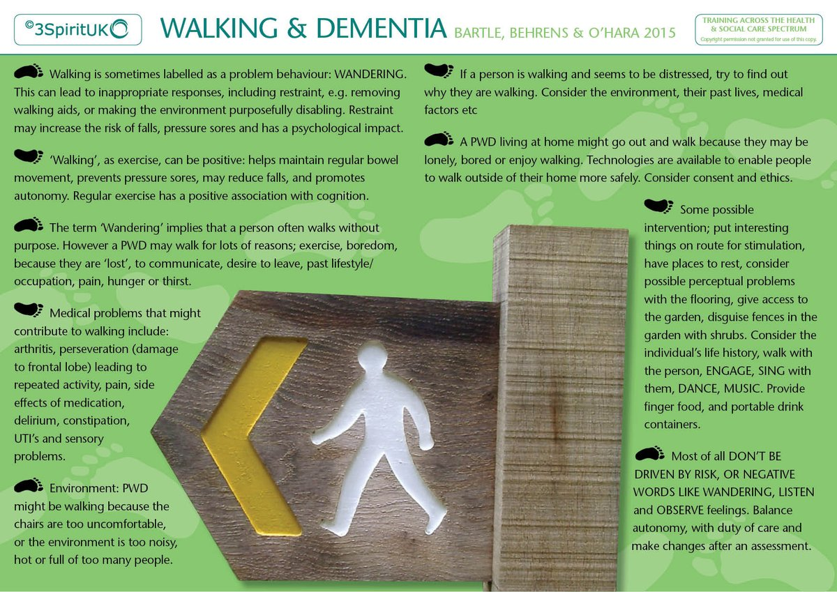 Please re-Tweet this @3SpiritUKNZ resource on #walking and #dementia.  #Alzheimers #fitness #exercise<br>http://pic.twitter.com/80MNHS7FoT