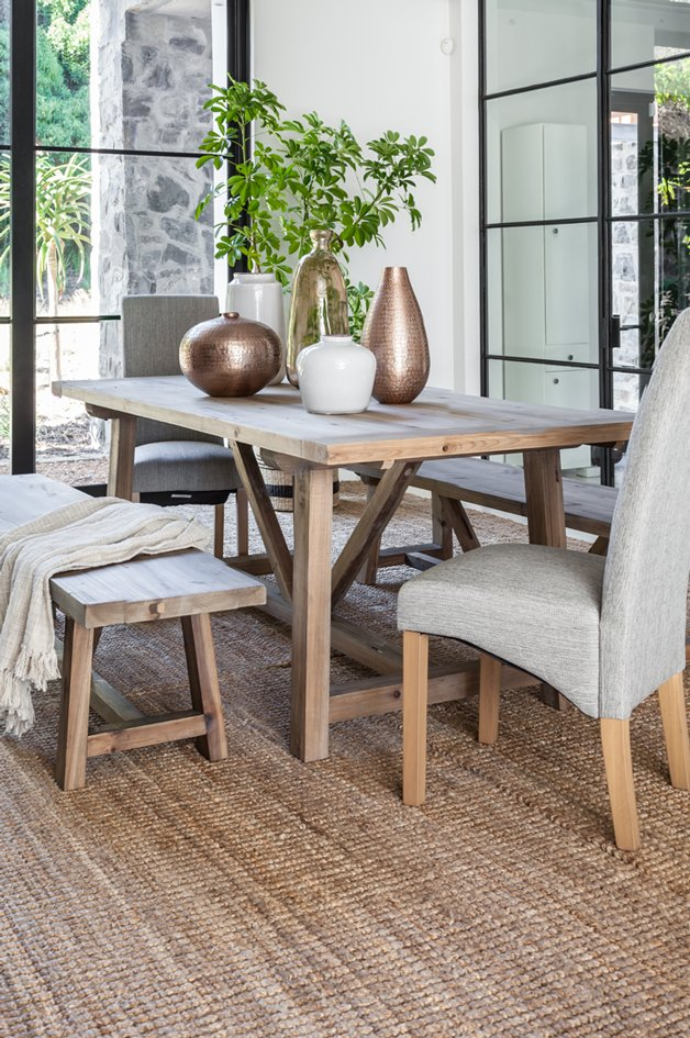 The Lightwood Thomas Dining Table Bench And Edison Chair Bring An Elegantly Understated Tone To Your Contemporary Room