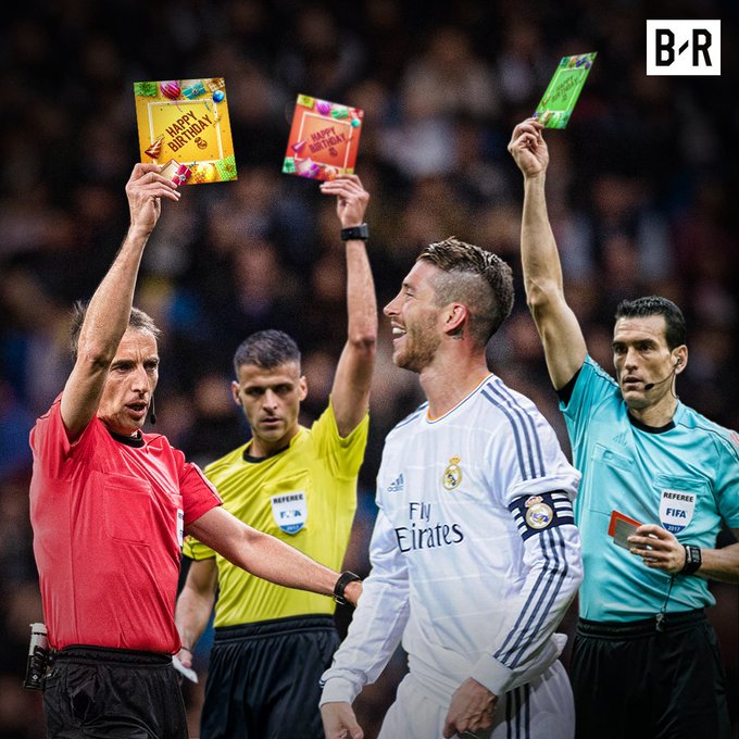 Happy birthday to Sergio Ramos, the player who loves cards more than anyone else