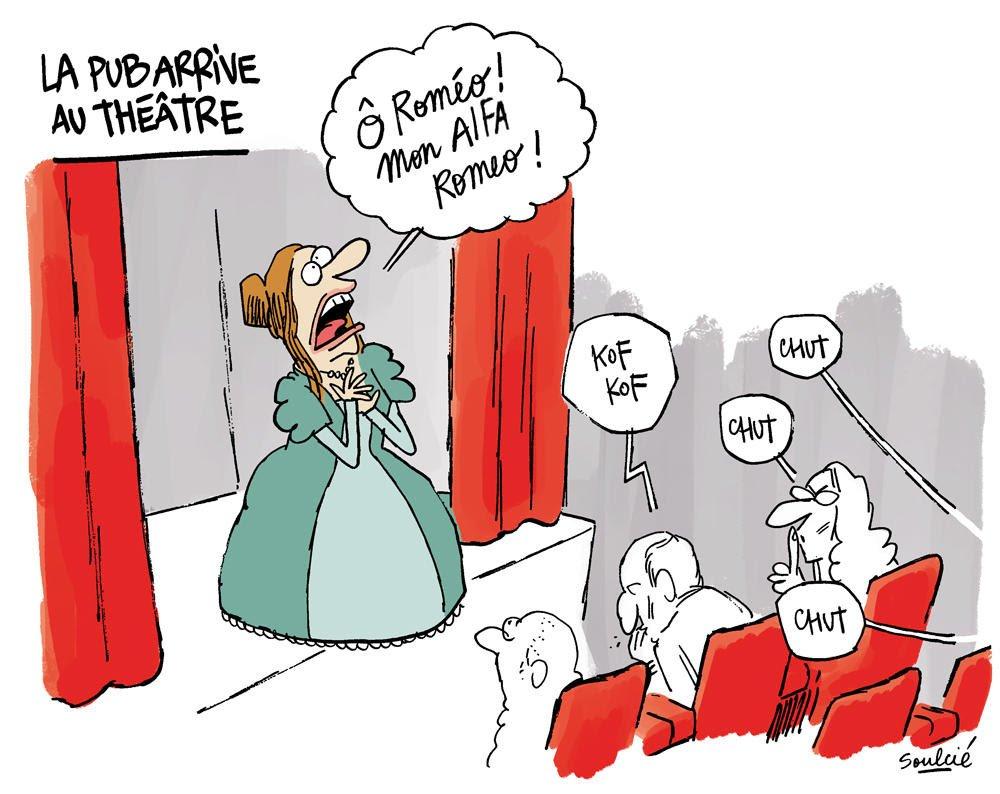 Rom o mon alfa romeo la pub arrive au th tre le - Dessin de theatre ...