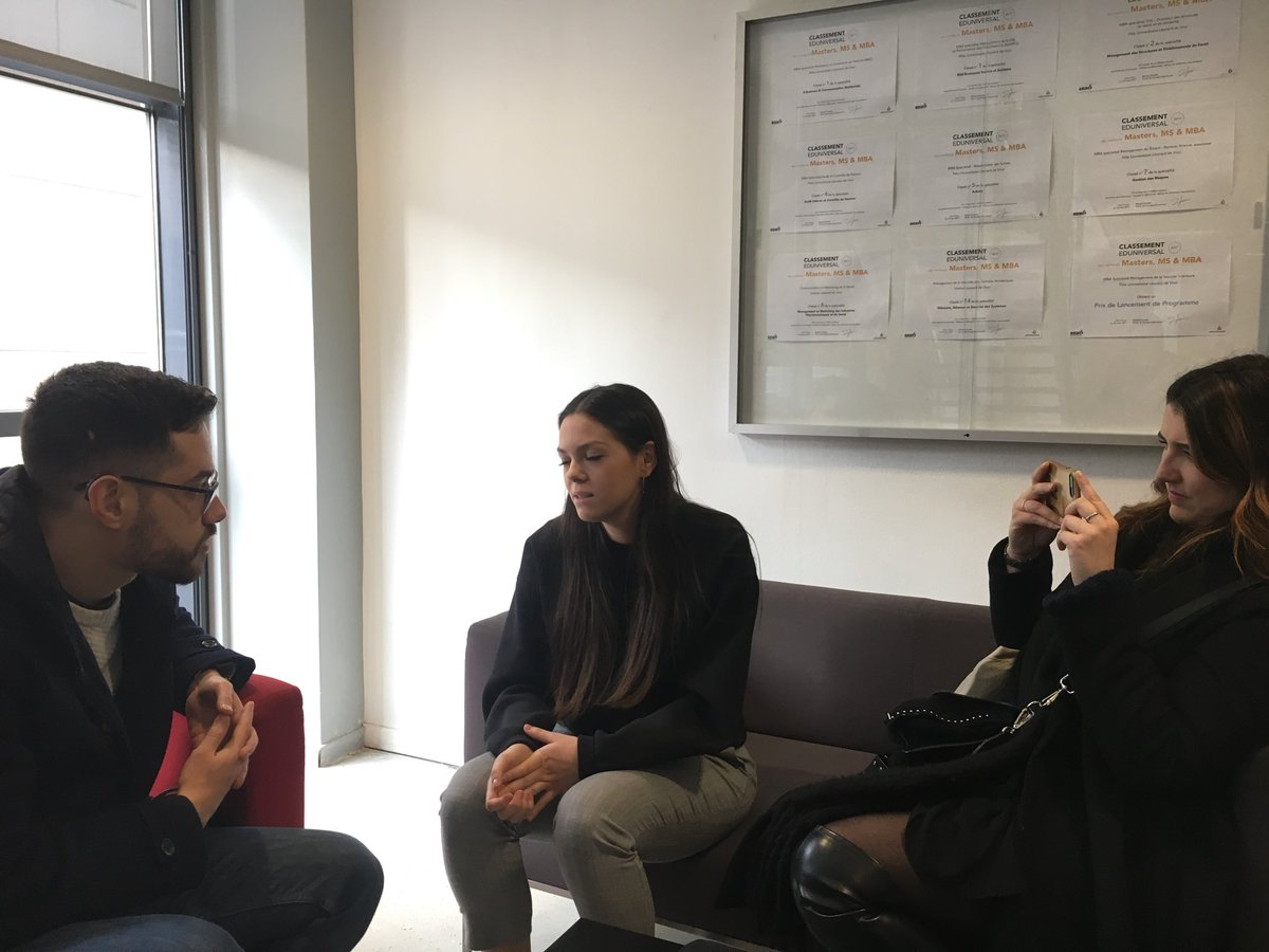 Back office interview pour le #MBAMCI avec @iwantroger ! Merci pour tout ! @manon_blondy @Juliette_Brthlt @JulietteBatte