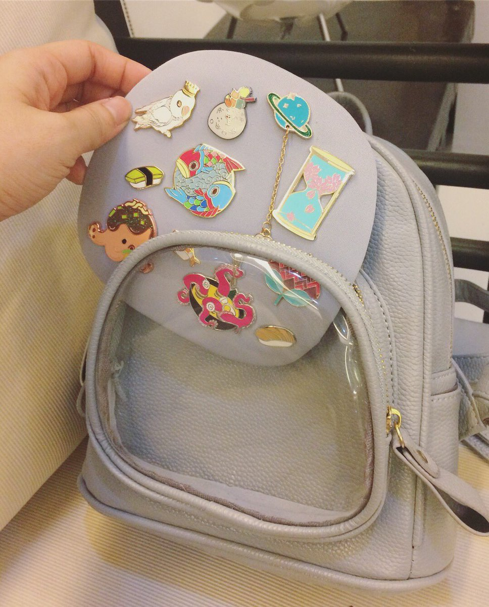 7c7696967c3 ... window backpack so I can showcase my growing pin collection without  fear of losing them. I like that it s a bit more subtle than the usual  itabag for my ...